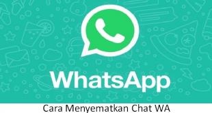 cara menyematkan chat wa