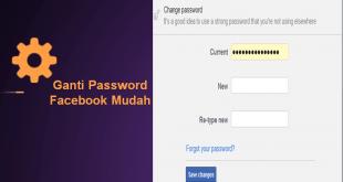 ganti password facebook mudah